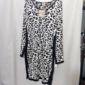 Derek Heart plus size 1x snow leopard dress New